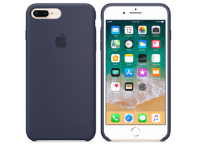 Apple iPhone 8 Plus / 7 Plus silikonski ovitek, temnomoder(mqgy2zm/a)