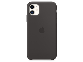 Husa silicon Apple iPhone 11 , negru (mwvu2zm/a)