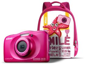 dc334c75af0a Nikon Coolpix W100 fényképezőgép, rózsaszín + hátizsák   Extreme Digital