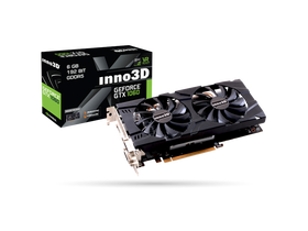 Placa video Inno3D PCI-E Nvidia GTX1060 Twin X2 (6144MB, DDR5, 192bit, 1506/8000Mhz, 2xDVI, DP, HDMI)