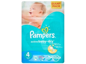Pampers Active Baby-Dry plienky 4 Maxi 76 ks