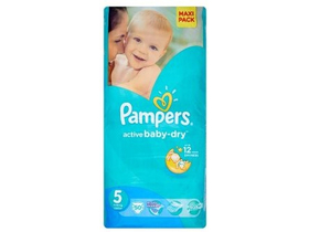 Scutece Pampers Active Baby-Dry  5 Junior 50 buc.