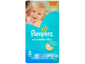 Scutece Pampers Active Baby-Dry  5 Junior 64  buc.