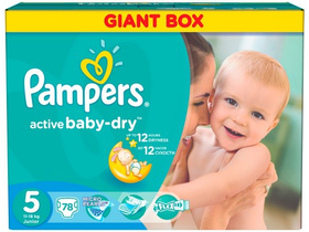 Pampers Active Baby-Dry Pelenka 5 Junior (78db)