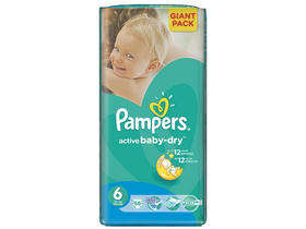 Pampers Active Baby-Dry plienky 6 Extra large 56 ks