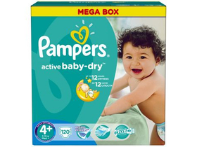 Scutece Pampers ActiveBaby Economy pack  4+ Maxi plus 120 buc.