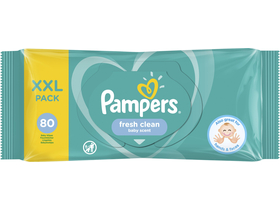 Pampers Fresh Clean törlőkendő, 80