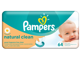 Pampers Natural Clean baby vlažna maramica 64 komad