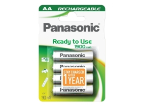 Panasonic Ready to use Rechargeable 1900mAh AA 4 komada unaprijed napunjene baterije
