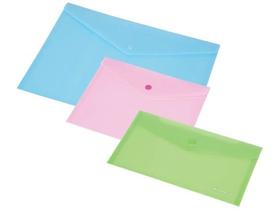 2853e3b50d10 Panta Plast irattartó tasak, A4, áttetsző rózsaszín, patentos