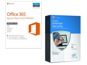 Varnostni set za PC in notebook (Office 365 Personal + McAfee Internet Security)