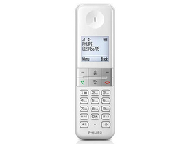 Telefon DECT wireless Philips D4501W/53, alb