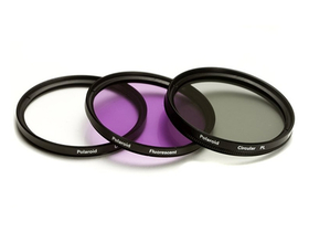 Polaroid  filter set (UV, CPL, FLD) + 4   ks filter -49 mm