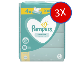 Pampers Sensitive vlažne maramice, 12x80 kom.