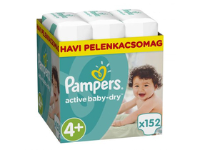 Pampers ActiveBaby Dry pelenka Maxi 4+ maxi plus, 152 db