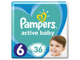Pampers Active Baby Value Pack pelene, veličina 6, 36 kom.