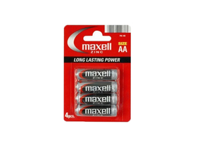 Maxell zinc battery R6 AA elem, 4 db