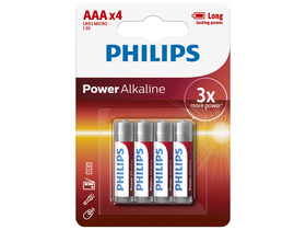 Philips LR03P4B/10 Power Alkaline AAA 4 elem