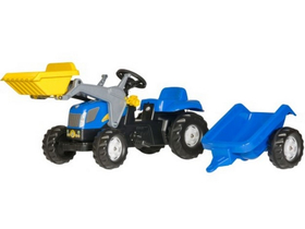 Трактор с педали и ремарке Rolly Kid New Holland T 7040