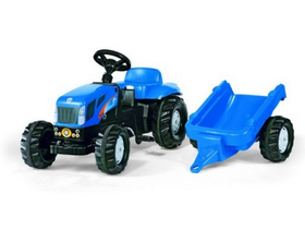 Rolly Kid New Holland T 7040 traktor s vlečný vozom