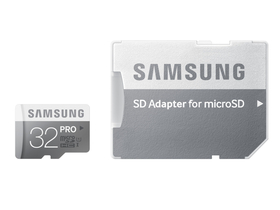 Samsung Secure Digital Micro 32GB SDHC Pro Class10, UHS-I Grade1 + SD adapter
