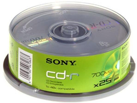 Sony 25CDQ80SP CD-R 48x