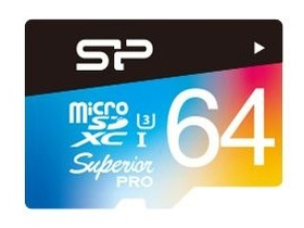 Card de memorie  Silicon Power microSD 64GB Superior UHS-1 U3 color