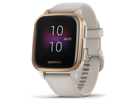 Garmin Venu Sq Music smart hodinky, Light Sand/Rose Gold