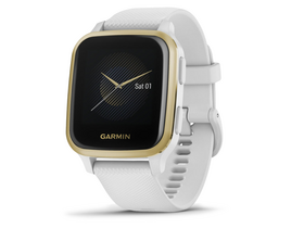 Garmin Venu Sq smart hodinky, White/Light Gold