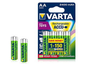 Varta Toy AA 2400mAh Ready2Use batéria, 4 ks
