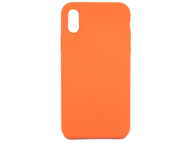 Cellect Premium Silikonhülle für iPhone X, Orange