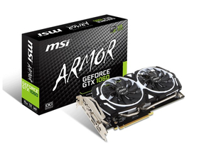 Placa video MSI nVidia GTX 1060 6GB GDDR5  - GeForce GTX 1060 ARMOR 6G OCV1