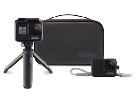GoPro Travel Kit (Shorty trepied + Sleeve+Lanyard husa silicon + Compact case)