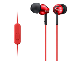 Headset Sony MDREX110APR.CE7 Android/iPhone, roşu-negru