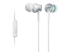 Headset Sony MDREX450APW.CE7 Andorid/iPhone, alb