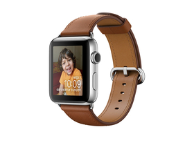 Apple Watch Series 2, 42mm Stainless Steel Case with Saddle Brown Classic Buckle (mnpv2mp/a)