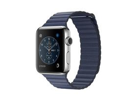 Apple Watch Series 2, 42mm Stainless Steel Case with Midnight Blue Leather Loop - Large (mnpx2mp/a)