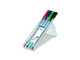 "Staedtler ""Triplus Box"" liner, 4 rôzne farby"