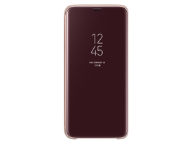 Samsung Galaxy S9 clear view cover tok,  arany