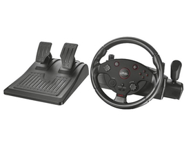 Trust GXT 288 Force Vibration Steering Wheel PC/PS3 gamer volan + pedal