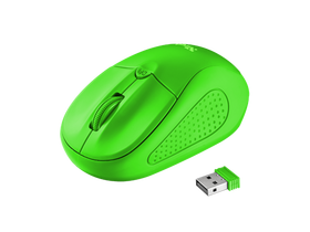 Mouse optic wireless Trust Primo, verde neon