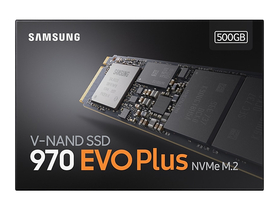 Samsung 970 EVO Plus 500GB PCIe NVMe M.2 (2280) belső Solid State Drive (SSD) (MZ-V7S500)