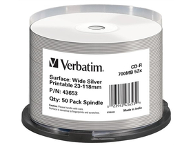 Verbatim CD-R 700 MB, 80min, 52x
