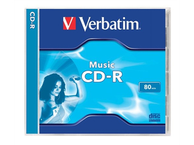 "Verbatim CD-R Music 700 MB, 16x, 80min, ""Live It"", normál tokban"