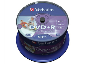 Verbatim DVD+R 4,7 GB 16x, 50ks
