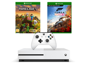 Microsoft Xbox One S 1TB konzola + Forza Horizon 4 j+ Minecraft Master Collection