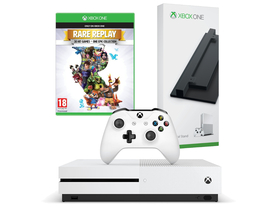 Consola Microsoft Xbox One S 500GB + suport + joc Rare Replay
