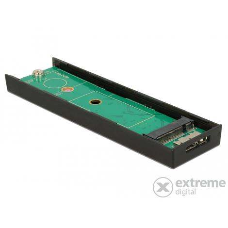Delock 42598 USB 3.1 GEN 2 M.2 SSD MicroUSB külső merevlemez ház  fekete
