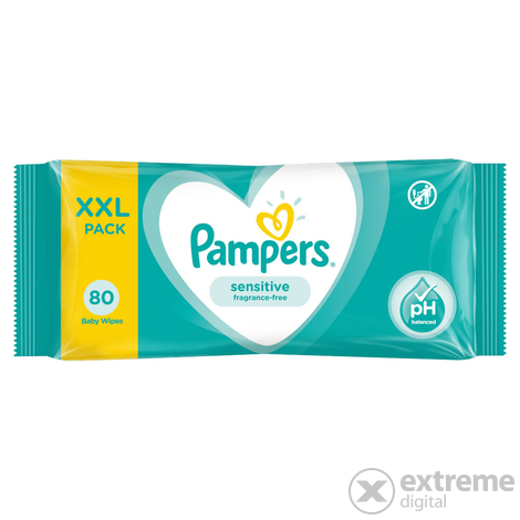 Pampers Sensitive törlőkendő, 80