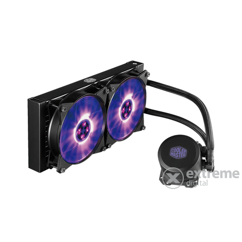 Cooler Master MasterLiquid ML240L 650-2000RPM (Intel, AMD) vízhűtéses RGB LED processzor hűtő
